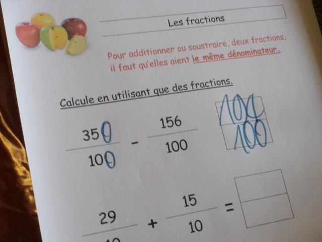 comment mettre 2 fractions au meme denominateur